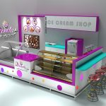 The purple and pure and fresh ice cream shop&small dessert kiosk for sale