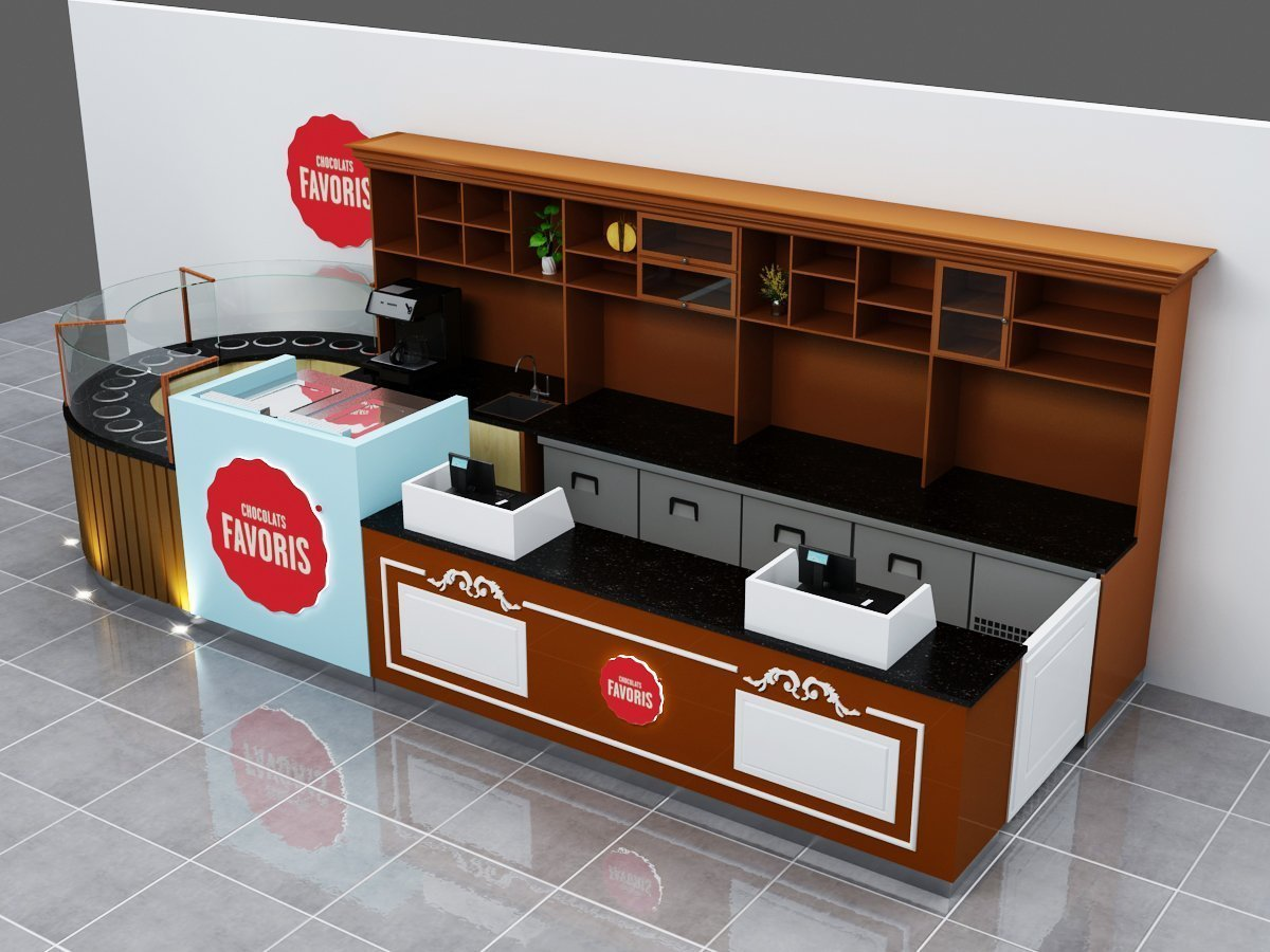 Best Price Indoor Design Mall Used Chocolate Kiosk For Sale