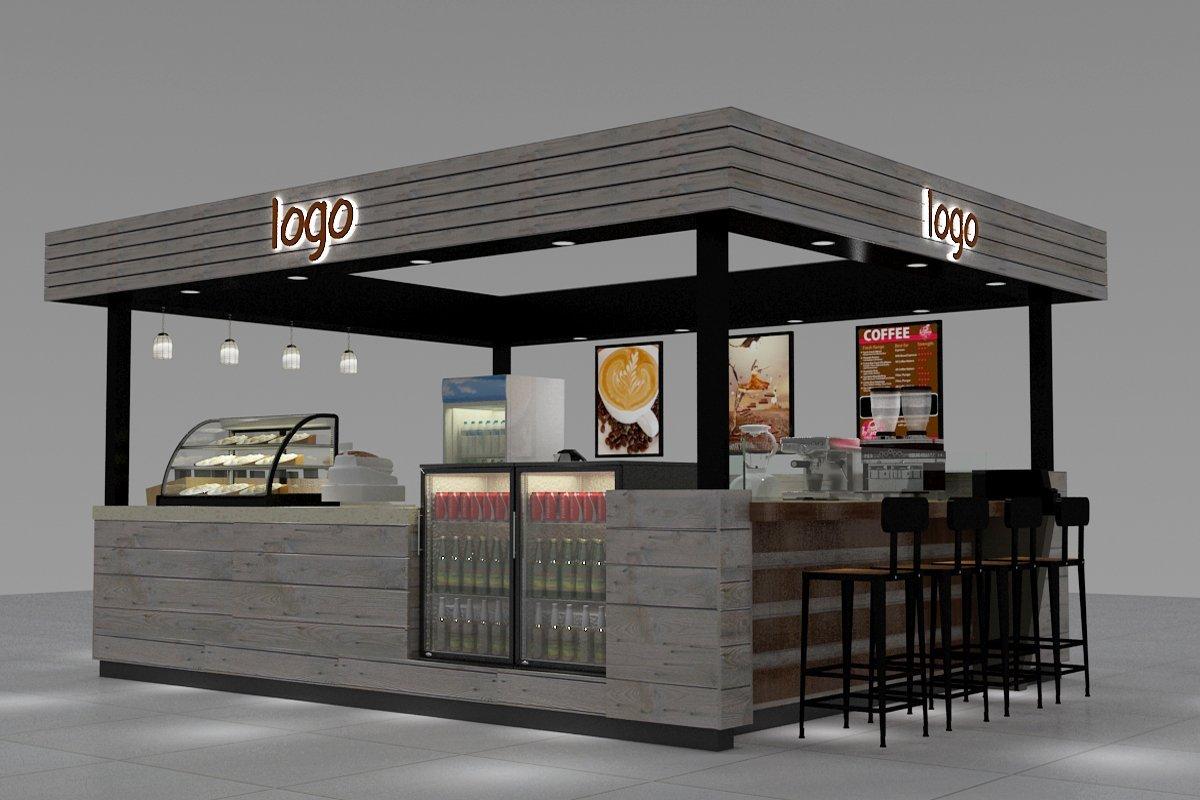 Train station coffee kiosk with nice coffee shop kiosk design