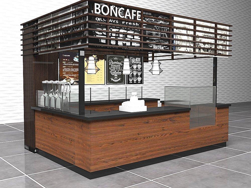 4*3 meter Small coffee kiosk design for BONCAFE