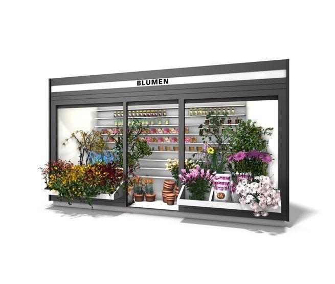 Flower Kiosk | Outdoor Flower Shop Display & Mall Florists For Sale