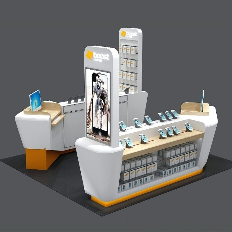 Cell Phone Kiosk | Mall Retail Shop Design Phone Case Kiosk For Sale