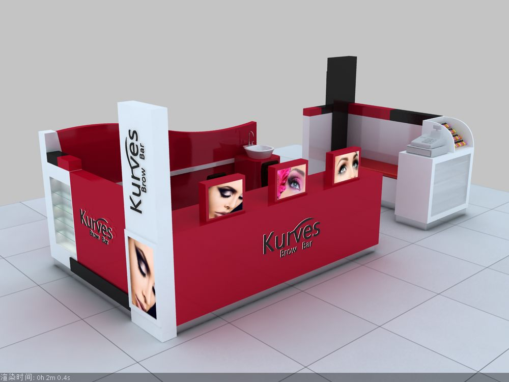 Eyebrow place in the mall with nice eyebrow threading kiosk for sale