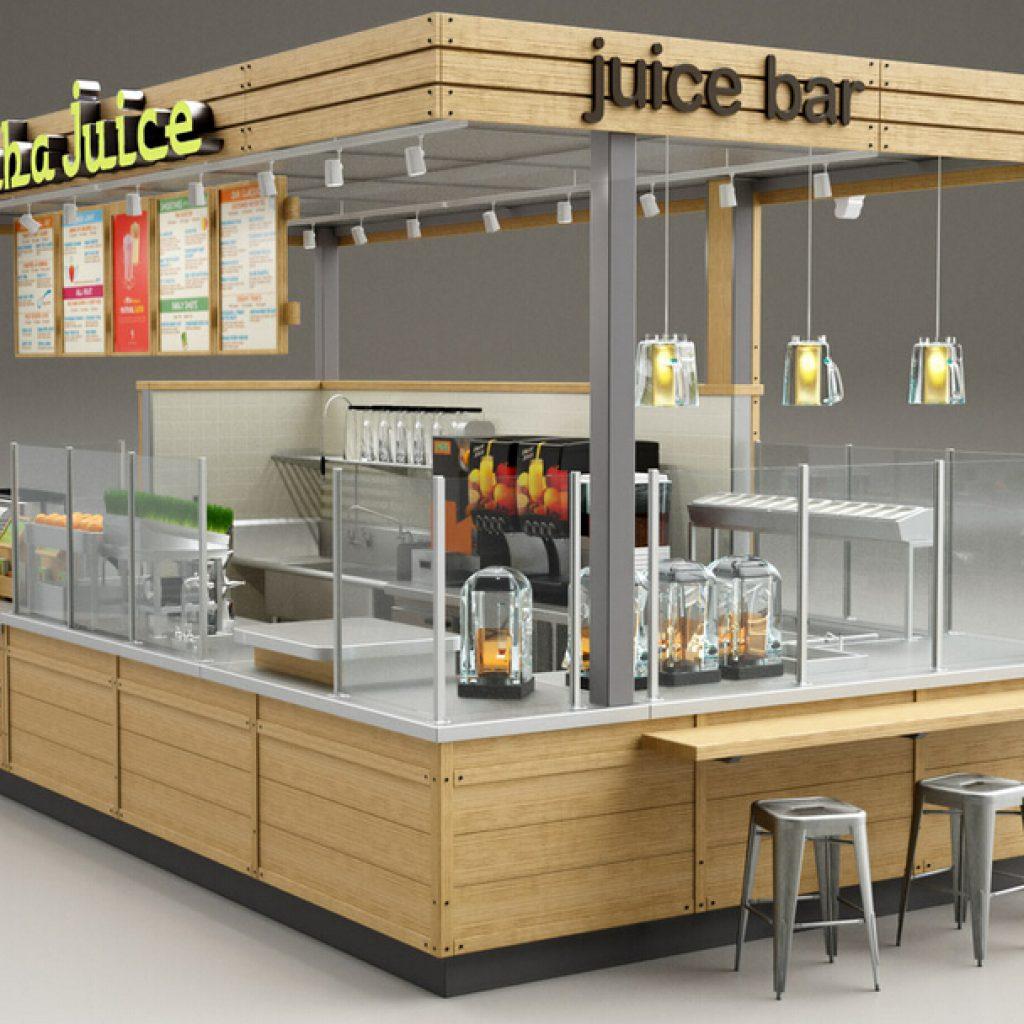 Juice bar kiosk design