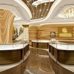 Key points of light design and production in jewelry kiosk retail display.