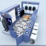 How to make a better clothes display in a clothes kiosk & clothes store?