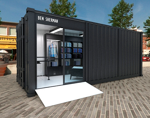 brand new a3d41 89051 Sea shipping container shop & outdoor retail store for sale