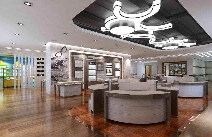 Big Optical Store design with frame display furniture for sale