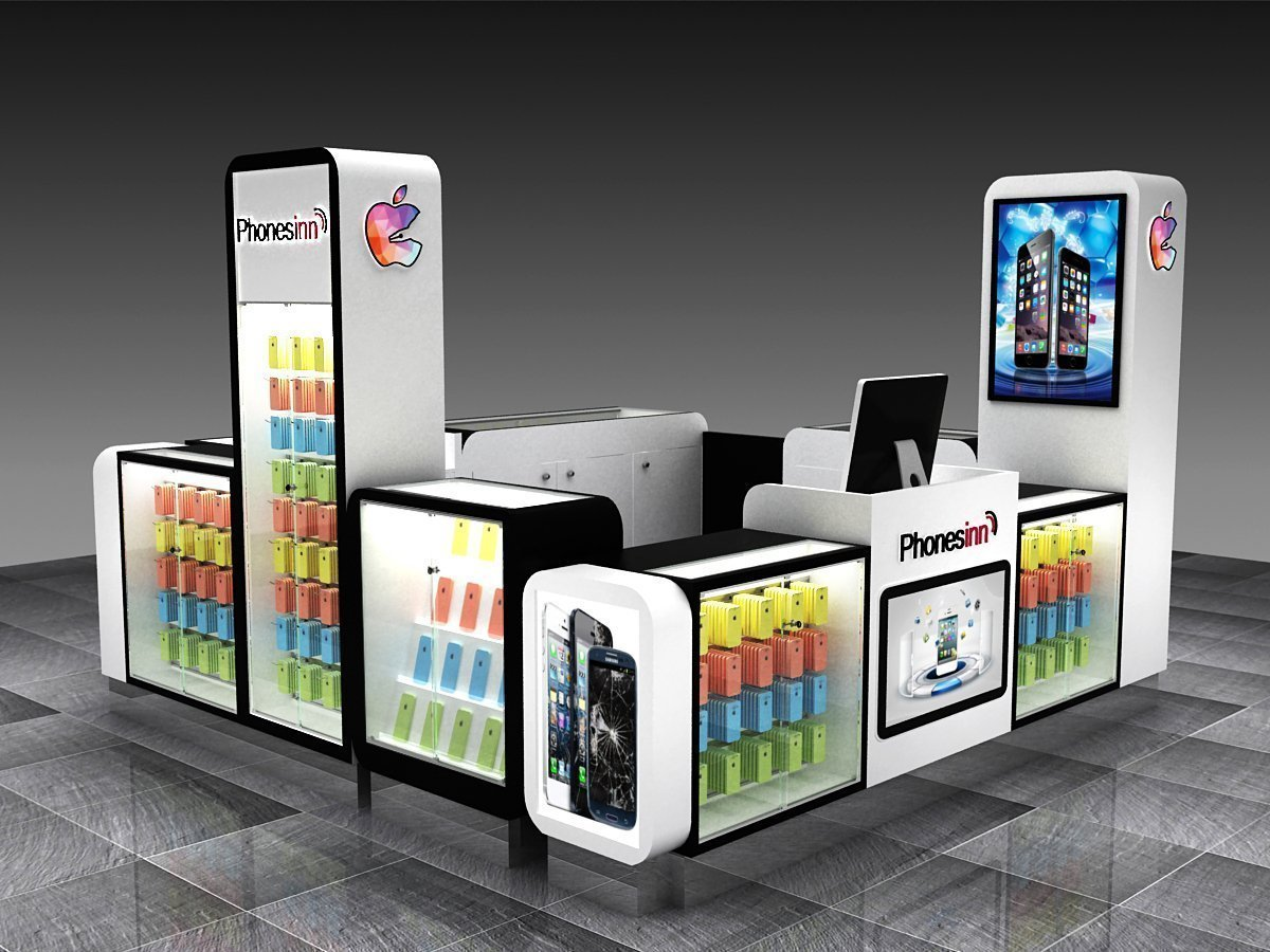 mall used cell phone accessories kiosk