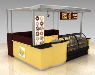 Food kiosk design for sugar dounts