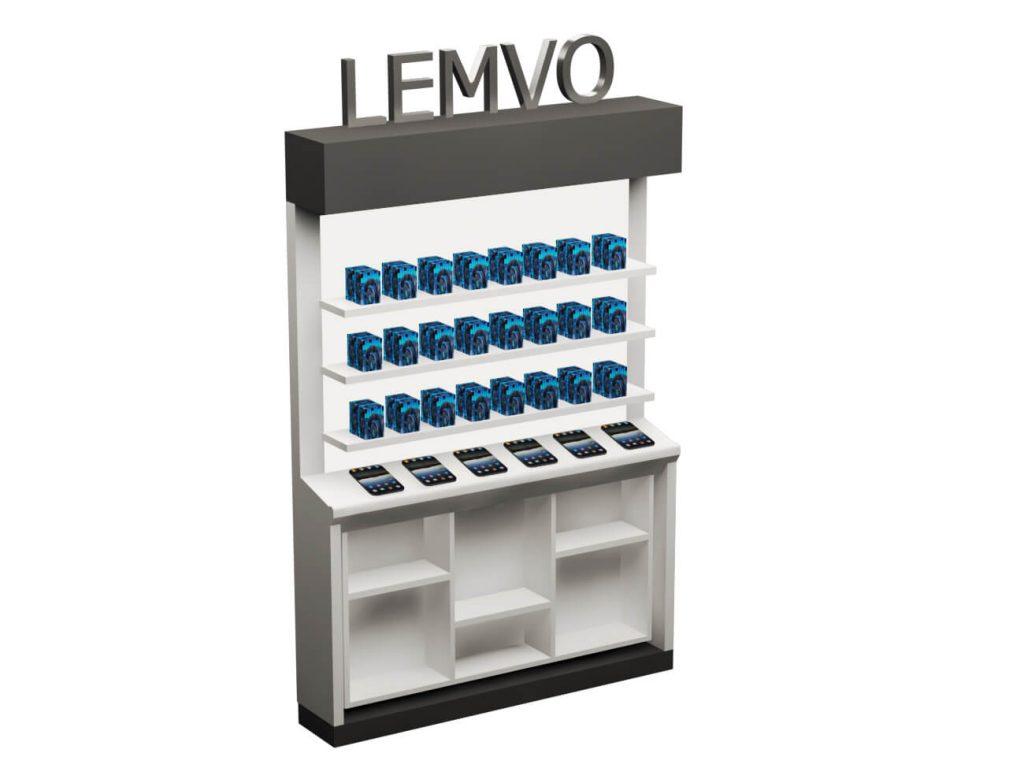 phone accessories shelf