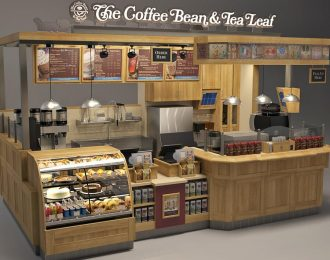 coffee kiosk design | unique 3D rendering with construction drawing
