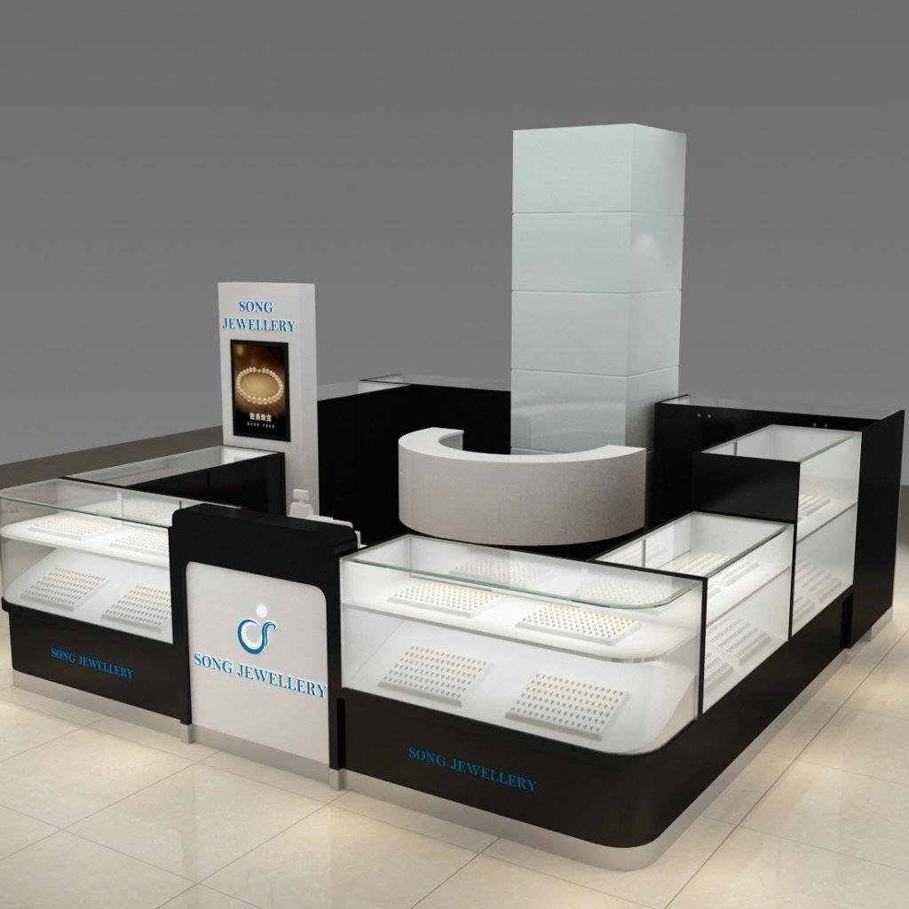 jewelry kiosk around column