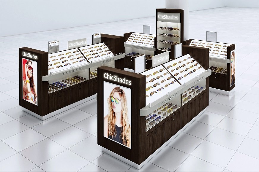 b08622bce607 New York sunglasses kiosk hut concept ideas for shopping mall