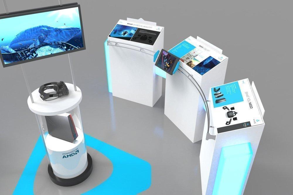 AR & VR kiosk in mall