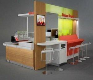 fast food kiosk design for juice