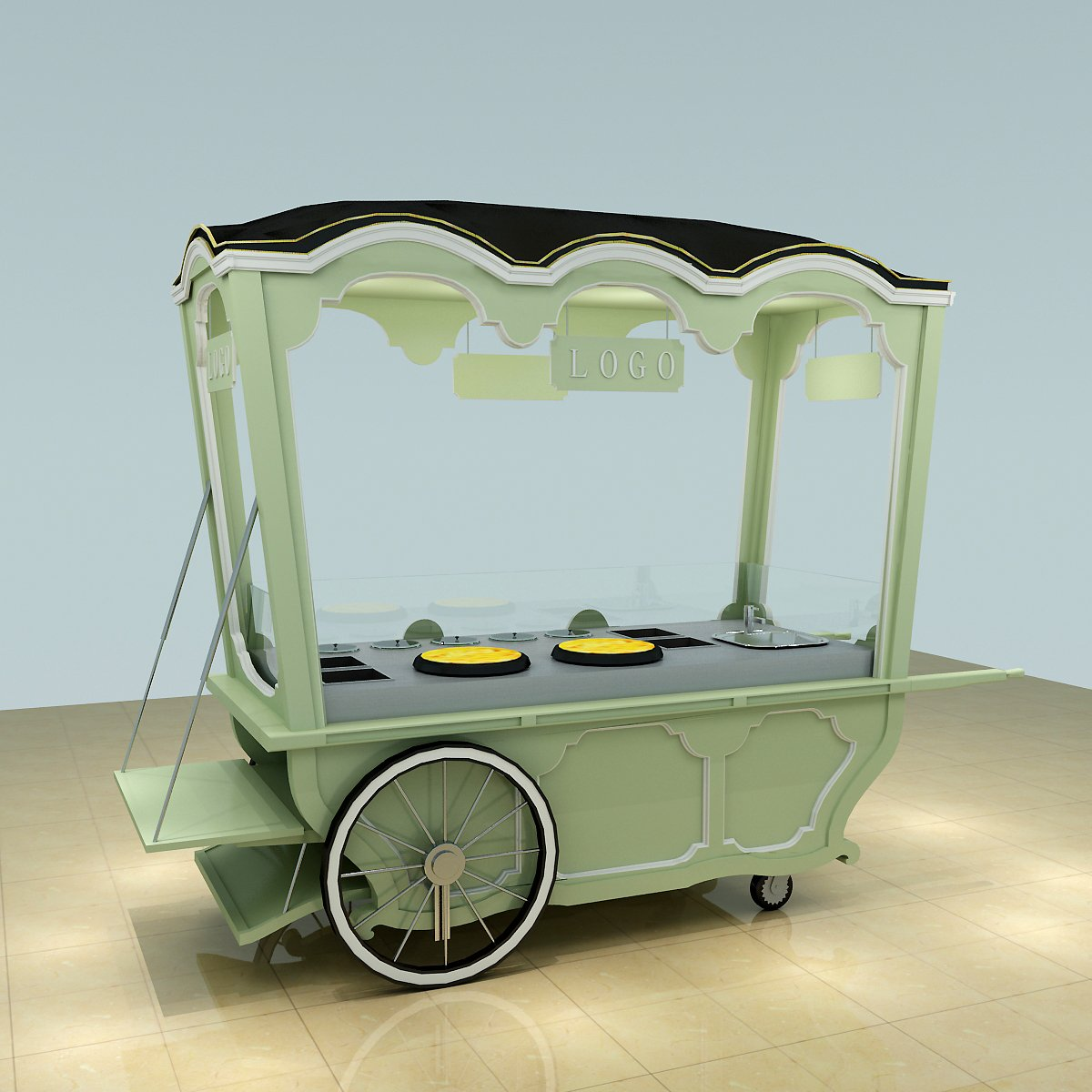 crepe cart design