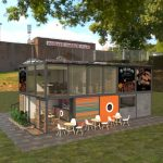 outdoor fast food kiosk design