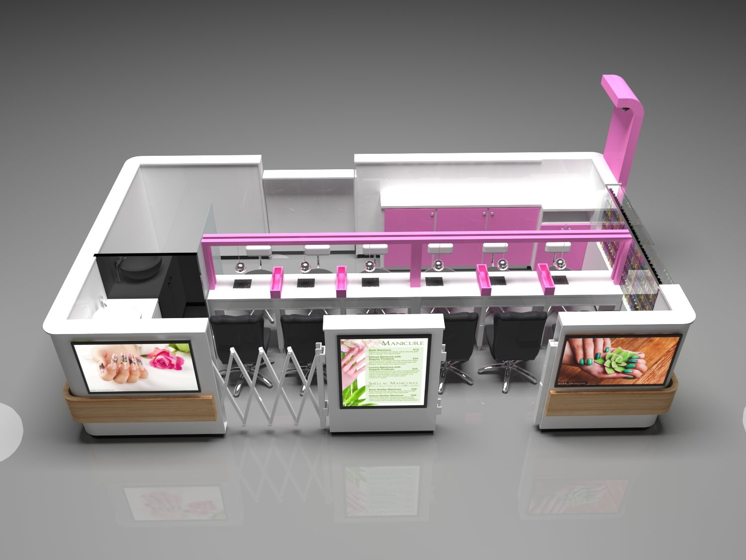 nail kiosk design for salon