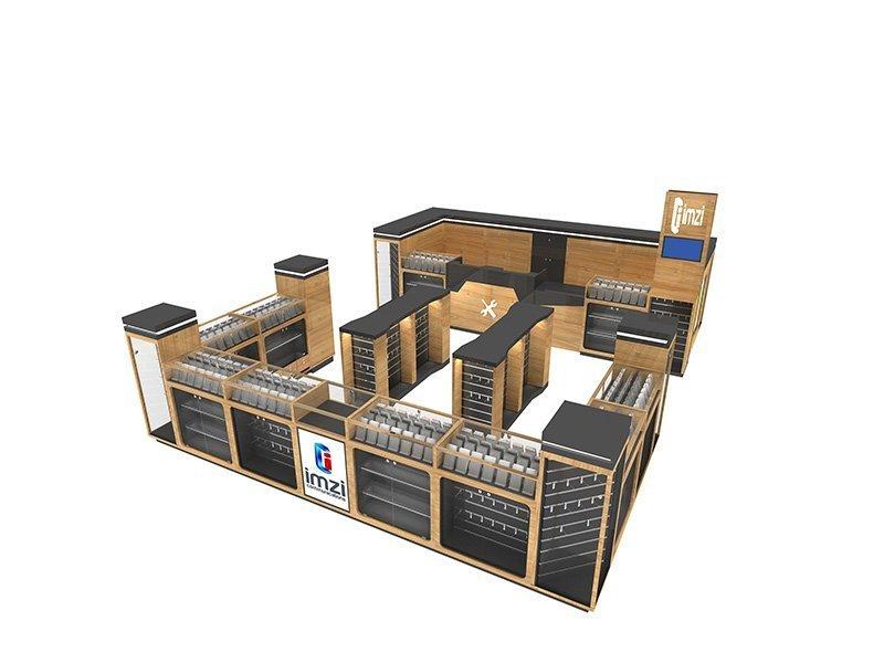 Solid wood mobile phone repair kiosk design manufacturer | Uniquekiosk
