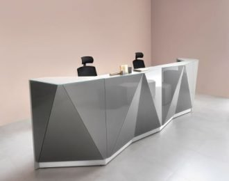 Dark Grey Mirror finish Stereoscopic reception counter for sale