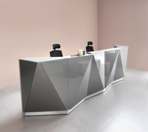 Stereoscopic reception counter for sale