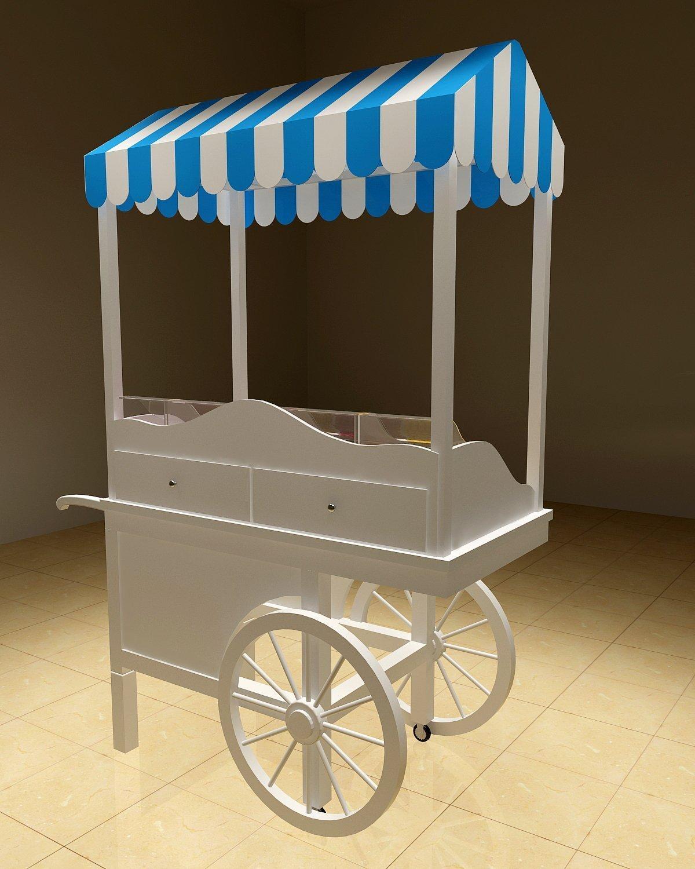 wooden candy cart design