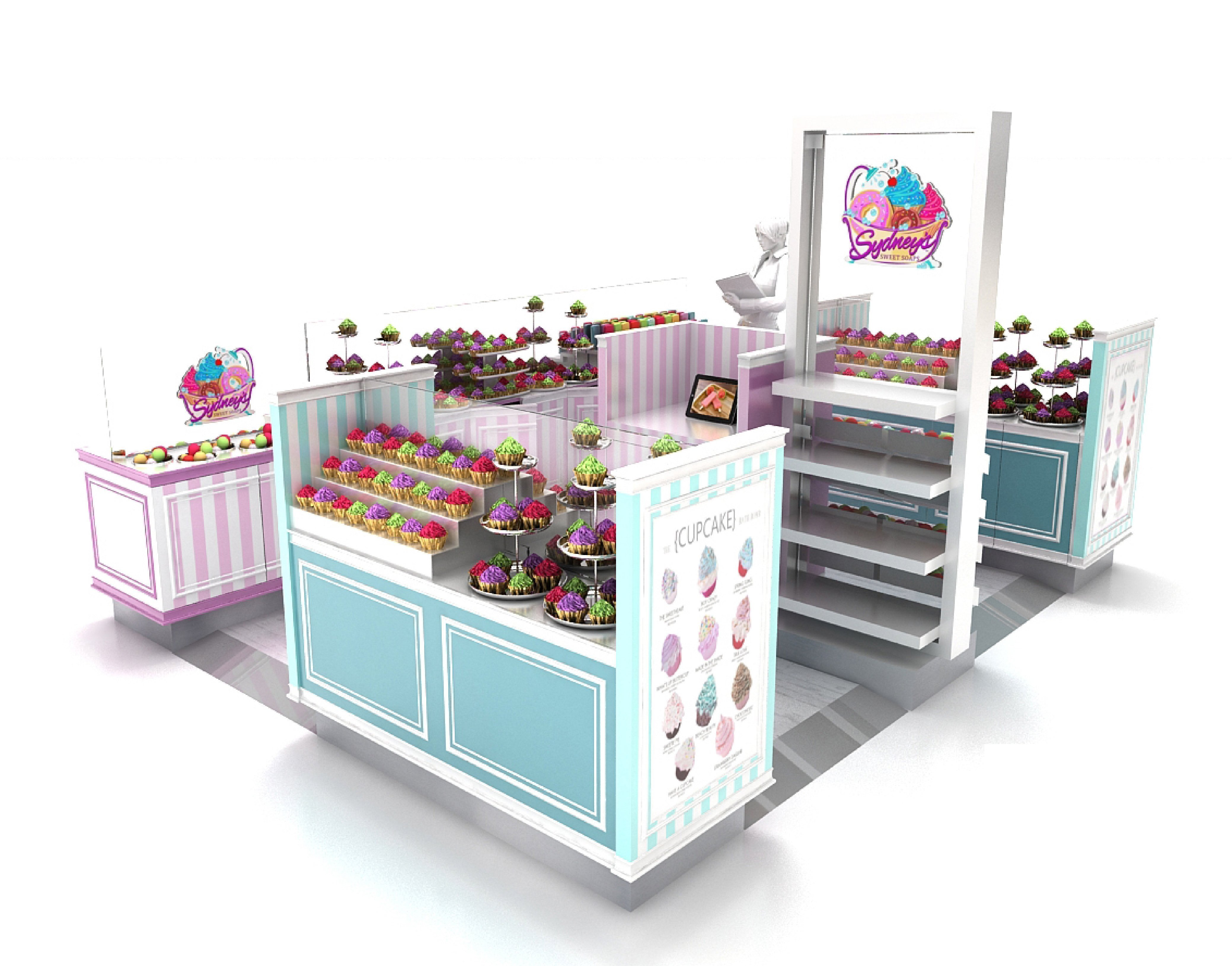 cupcake kiosk in mall