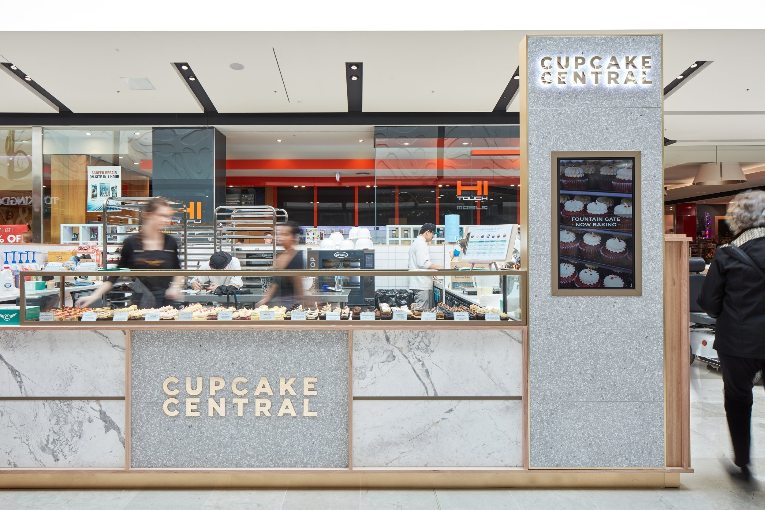 cupcake kiosk design in mall