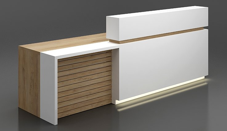 office timber reception desk