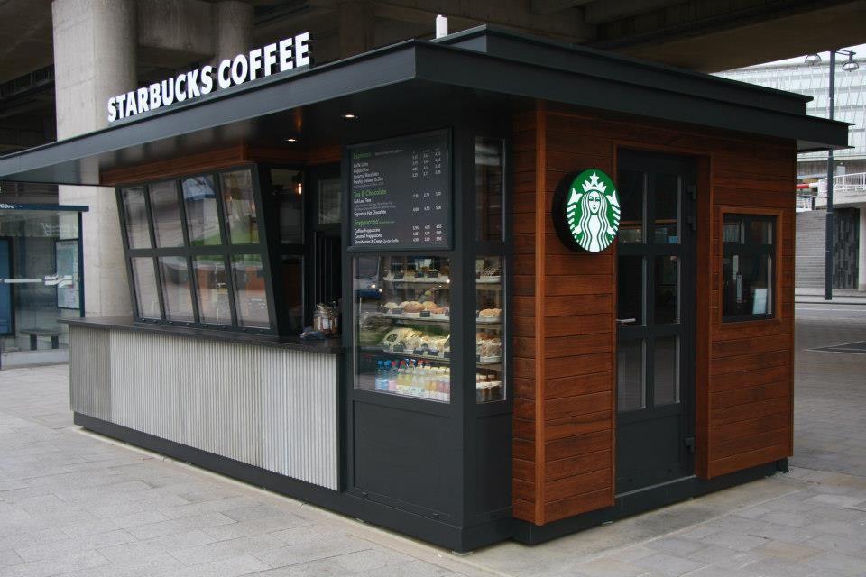 Outdoor coffee kiosk