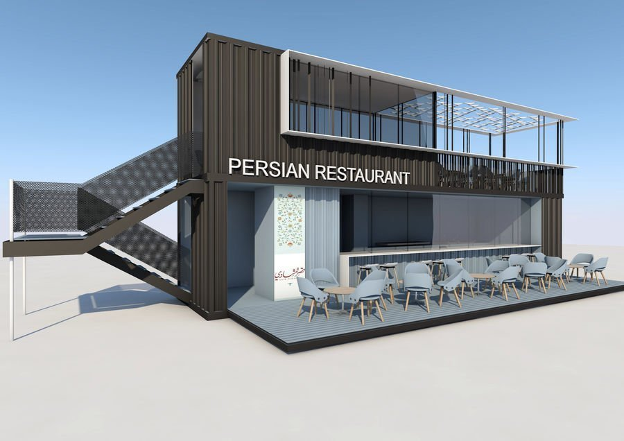 shipping container restaurant concept