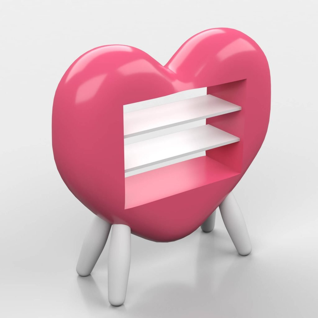 heart shape candy kiosk