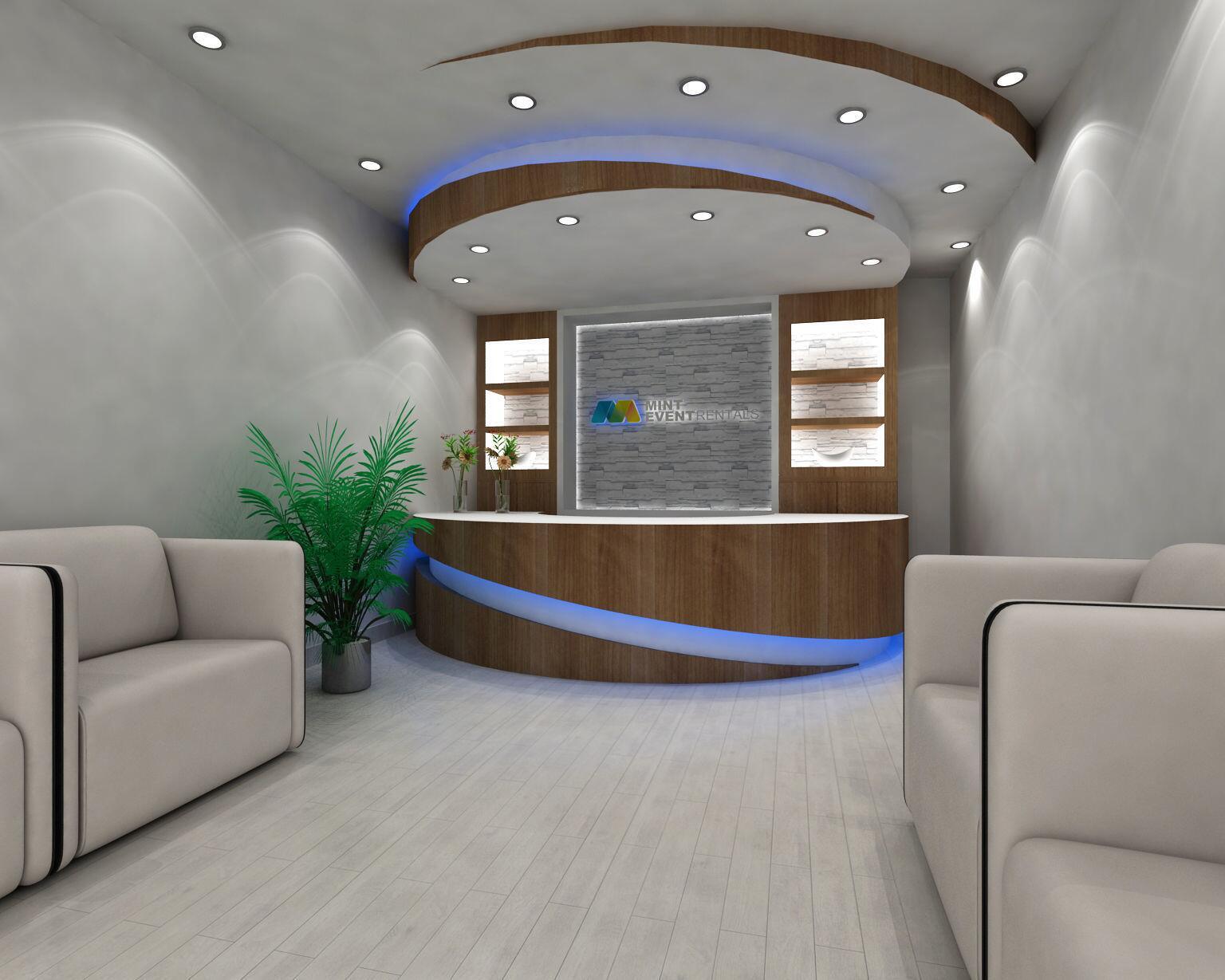 reception counter design
