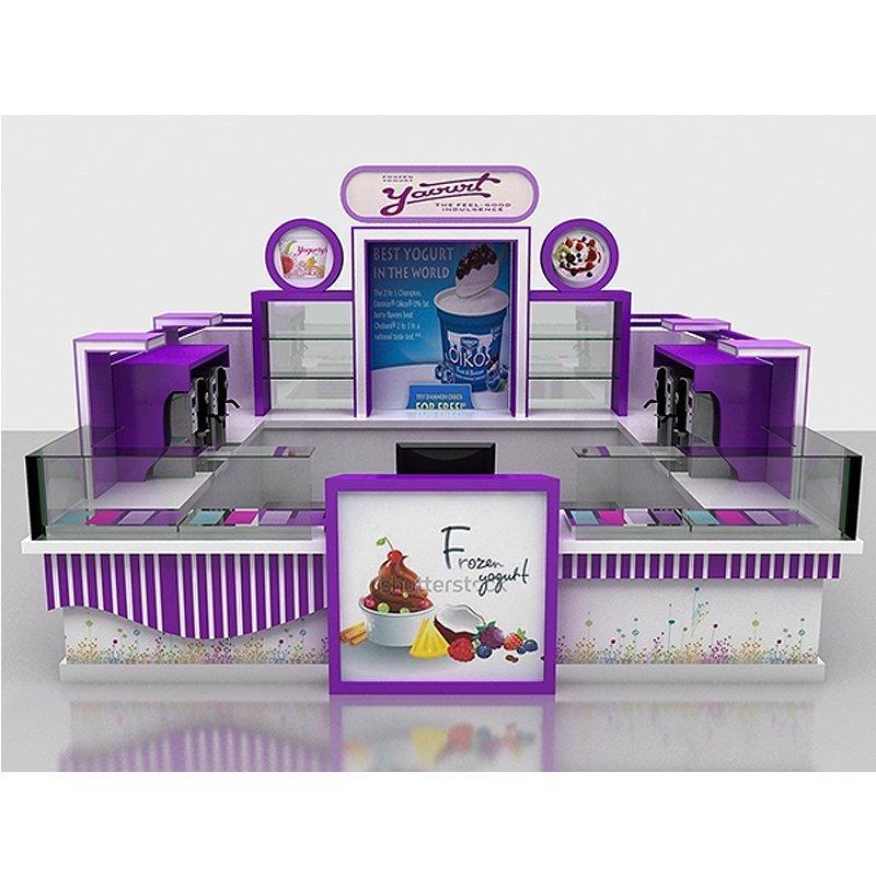 frozen yogurt kiosk design