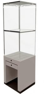 free standing jewelry display case