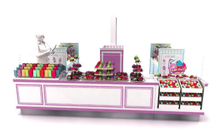 mall cake kiosk design