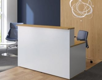 White painted modern office reception desk for sale