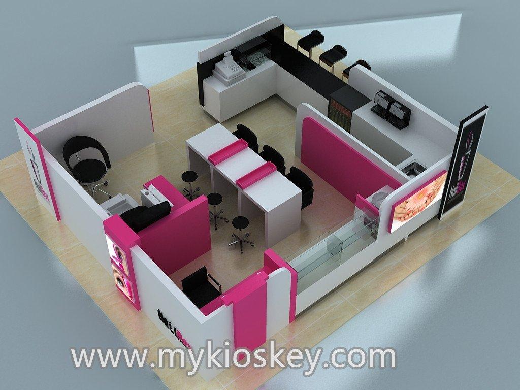 nail bar kiosk design