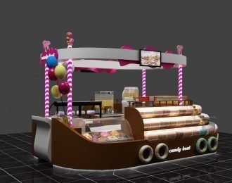 Mall Candy Kiosk Candy Boat Design