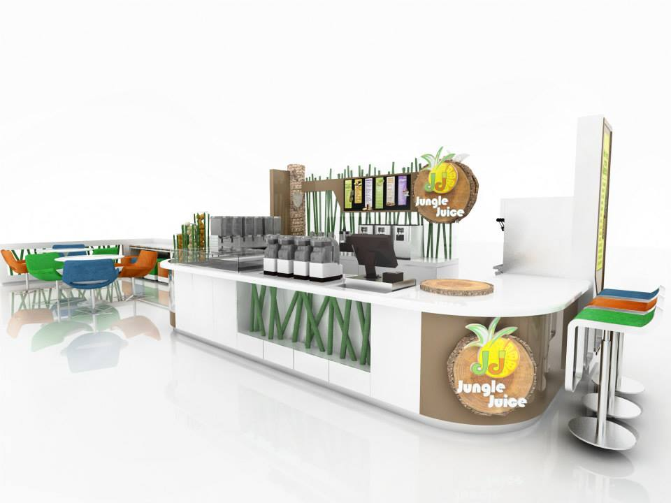Fruit Juice Kiosk Mall Used Juice Bar Carts Design Stand For Sale