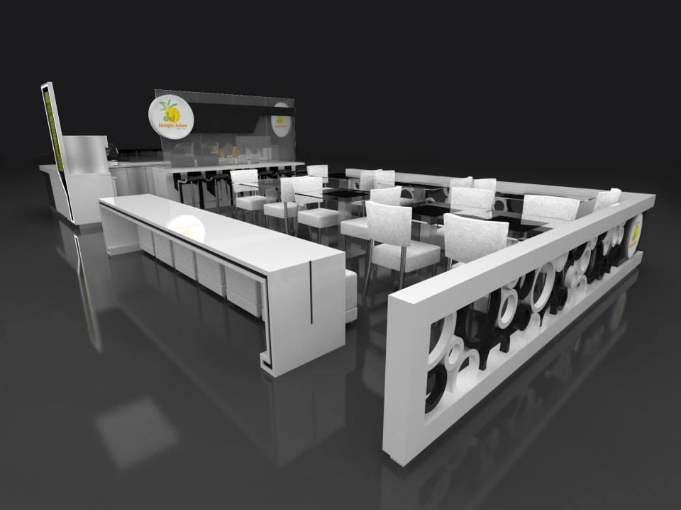 Big size juice bar Design jungle juice kiosk with seating ...