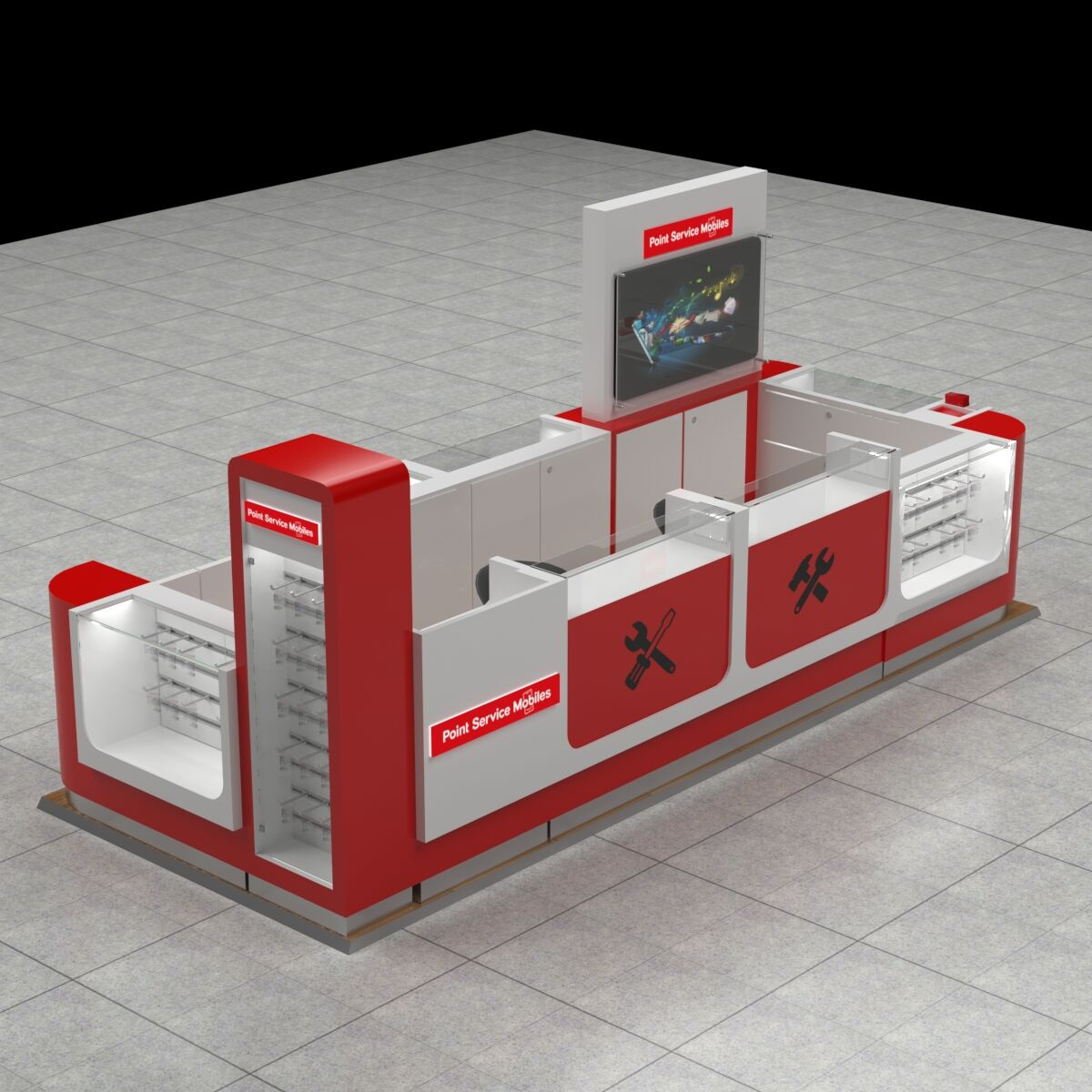 New style cellphone repair kiosk