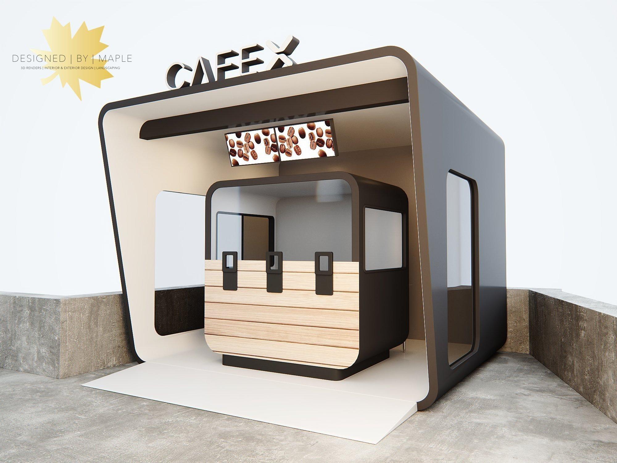 Unique Outdoor Coffee Kiosk Shop concept For Sale