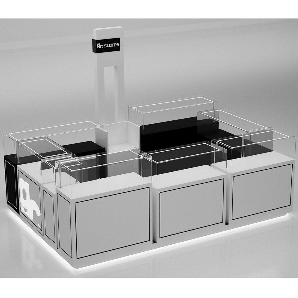 black jewelry display kiosk