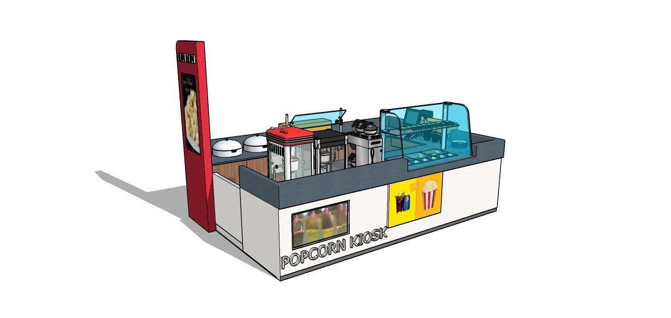 popcorn kiosk concept
