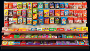 back wall candy display