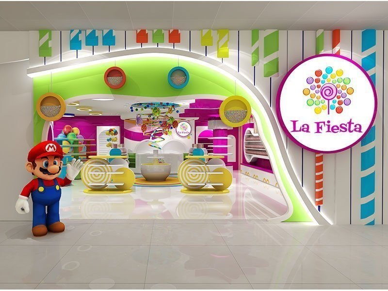 candy store front design