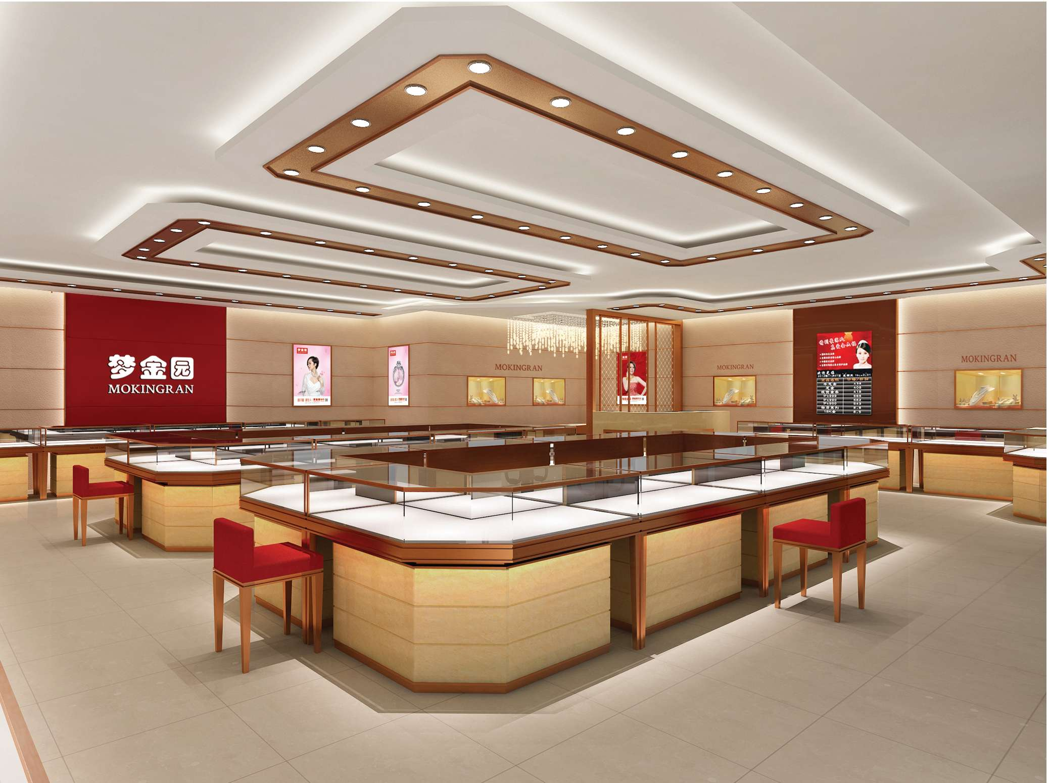 Share some nice jewelry shop design ideas jewelry showcase with you