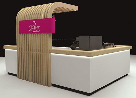 soft ice cream kiosk